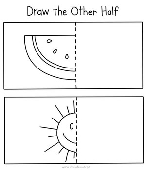 Summer draw the other half worksheet/activity!
