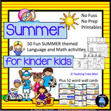 Summer Activities: Summer Math Language - Summer Packet for End of Year