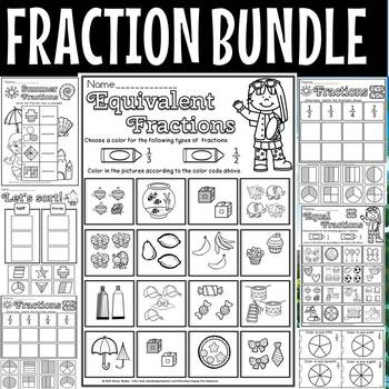 Summer fractions for first grade
