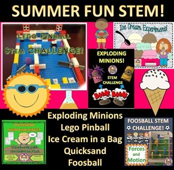 Summer fun STEM Bundle - Lego Pinball and more...