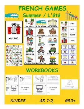 Summer holidays / Les vacances d'été FRENCH Workbook&Games Package