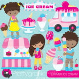 Summer ice cream clipart commercial use, graphics, digital clip art - CL889