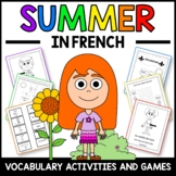 Summer Activities and Games in French - L'été en Français