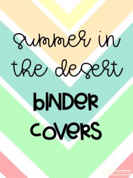 Summer in the Desert Binder Covers