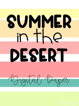 Summer in the Desert Digital Paper
