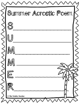 Summer is Almost Here! End of the Year Activity Pages