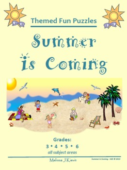 Summer is Coming - Fun Themed Puzzles & Writing Prompts