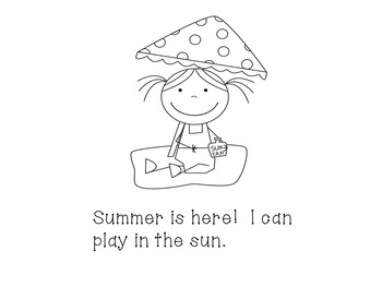 Summer is Here!  An End of the Year Emergent Reader