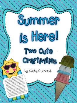 Summer Writing Craftivities - Summer is Here
