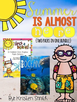 Summer is almost here bundle! An ocean unit and 10 CC aligned math centers!