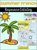 Summer {l'été} French Resource Catalog ~ en français