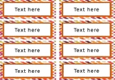 Summer labels with chevron background { editable }