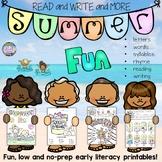 Summer literacy NO PREP