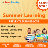 Online Summer Learning Program - Grade 5 to 6 - Worksheets