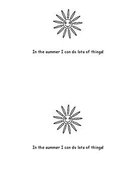 Summer little sight word reader