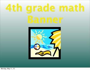Summer math banner