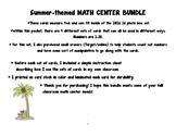 Summer math center bundle