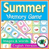 Summer memory game printable Distance Learning