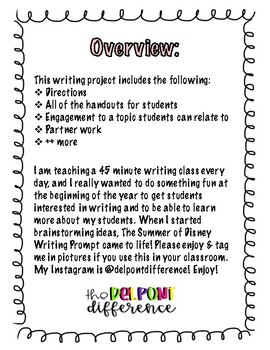 Summer of Disney Writing Project