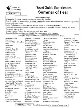 Summer of Fear Literature Guide