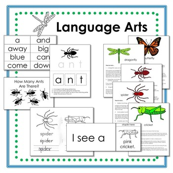 Insect Literacy and Math Summer Packet