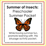 Insect Literacy and Math Summer Packet for Early Learners
