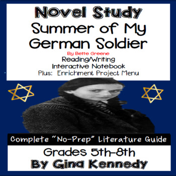 Summer of My German Soldier Novel Study and Project Menu
