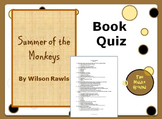Summer of the Monkeys Book Quiz / Book Club Quiz / Book Test