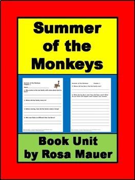 Summer of the Monkeys Book Unit