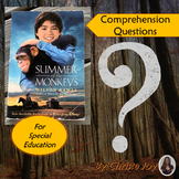 Summer of the Monkeys Comprehension Questions for Special Ed