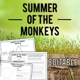 Summer of the Monkeys: Novel Study