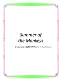 Summer of the Monkeys Novel Unit Plus Grammar