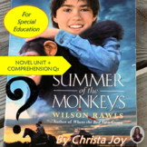 Summer of the Monkeys Novel Unit WITH Comprehension Questi