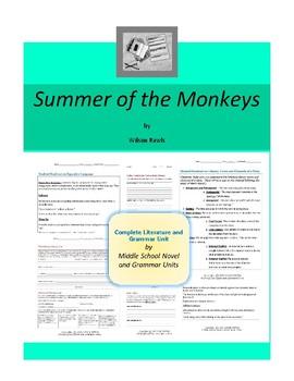 Summer of the Monkeys Novel Unit