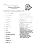 Summer of the Monkeys by Wilson Rawls Novel Study Final Test