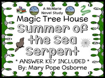 Summer of the Sea Serpent : Magic Tree House #31 Novel Study / Comprehension