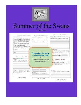 Summer of the Swans Complete Literature and Grammar Unit