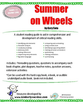 Summer on Wheels by Gary Soto Reading Guide