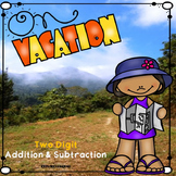 Summer or Back to School Math / Two Digit Addition & Subtraction Color by Number