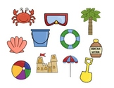 Summer or Beach Themed Following Directions Activity