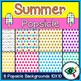 Summer popsicle frames and backgrounds