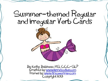 Summer regular and irregular verbs card kit