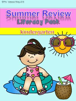 Summer review - literacy pack (Kindergarten)