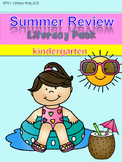 Summer Review Literacy pack for Kindergarten Distance Learning