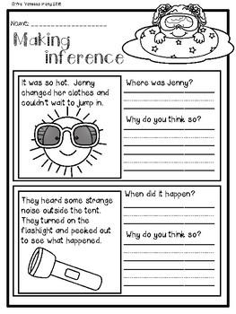 Summer review - math & literacy pack bundle (First Grade)