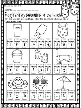 Summer review - math & literacy pack bundle (kindergarten)