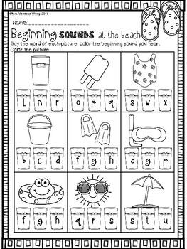Summer review - math & literacy pack bundle (kindergarten)