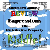 Summer's Coming Review Riddle The Distributive Property...Math+Riddle=FUN!