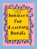 Summer's Fun Learning Bundle (K-3) 58 Pages of Ideas