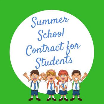 Summer School Contract